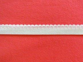 Pruženka ozdobná bílá 11mm