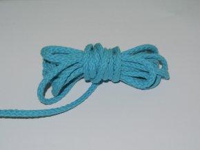 Šňůrka oděvní kulatá tyrkys 5,3mm