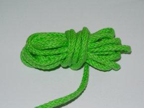 Šňůrka oděvní kulatá zelená 5,3mm