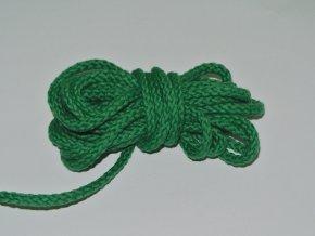Šňůrka oděvní kulatá zelená tmavá 5,3mm