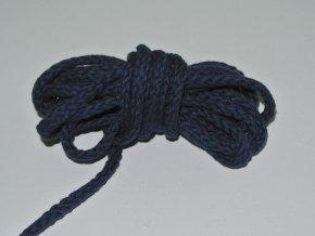 Šňůrka oděvní kulatá tmavě modrá 5,3mm
