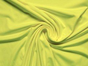 Elastická teplákovina neon žlutá