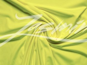 Elastická teplákovina neon žlutý melír - II.JAKOST