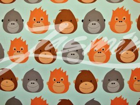 Elastický bio úplet opičí hlavy