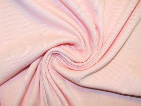 Náplet žebro 2x2 pudrově růžový