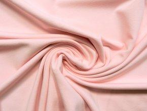 Elastická teplákovina pudrově růžová 250g (zbytek)