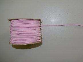 Guma klobouková světle růžová 3mm
