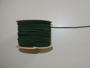 Guma klobouková tmavě zelená 3mm