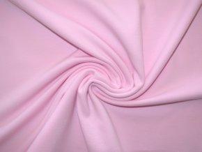 Elastická teplákovina světle růžová 240g