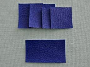 Štítky koženkové královsky modré