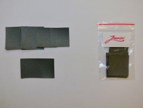 Štítky koženkové šedé