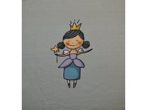 Elastická teplákovina princezna (panel)
