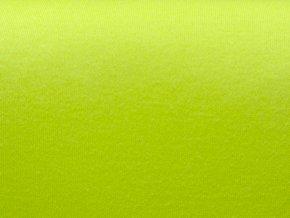 Bavlněný úplet oboulíc výrazný zelený (zbytek)