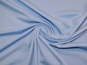 Elastická teplákovina nebesky modrá 250g (zbytek S VADOU)