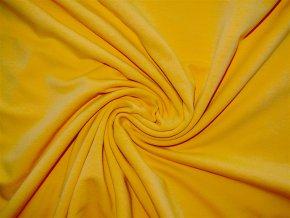 Elastická teplákovina žlutá 290g