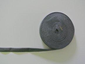 Pruženka lemovací 19 mm tmavě šedá