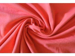 Elastická teplákovina korálově červená 240g (zbytek S VADOU)