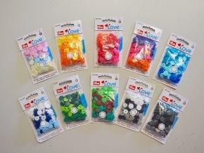 Patentky plastové Color Snaps Prym - MIX BAREV