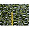 Elastická teplákovina OMG zelená (digitisk)