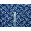 Plátno bílé větvičky na modré