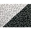 Elastický úplet bílé kotvy na černé