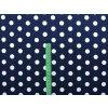 Viskozový úplet puntíky na tmavě modré