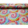 Elastická teplákovina barevná batika  (digitisk)