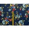 Warmkeeper barevné květy na modrém džínsu