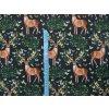 Softshell zimní - jeleni na černé