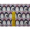 Elastická bio teplákovina tučňáci na fialkové