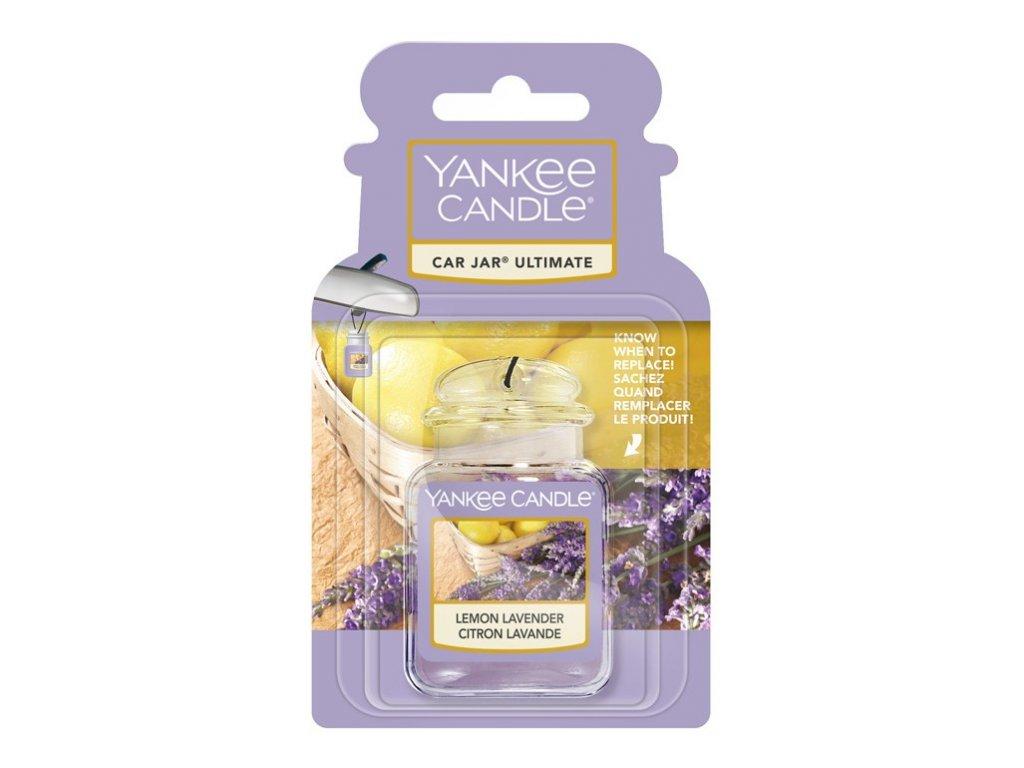Yankee Candle Lemon Lavender Gelová aroma visačka do auta, 1 ks