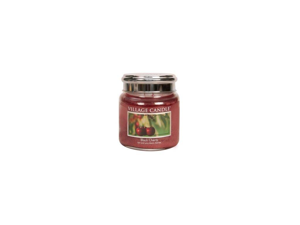 Village Candle Vonná svíčka Černá Třešeň - Black Cherry, 390 g