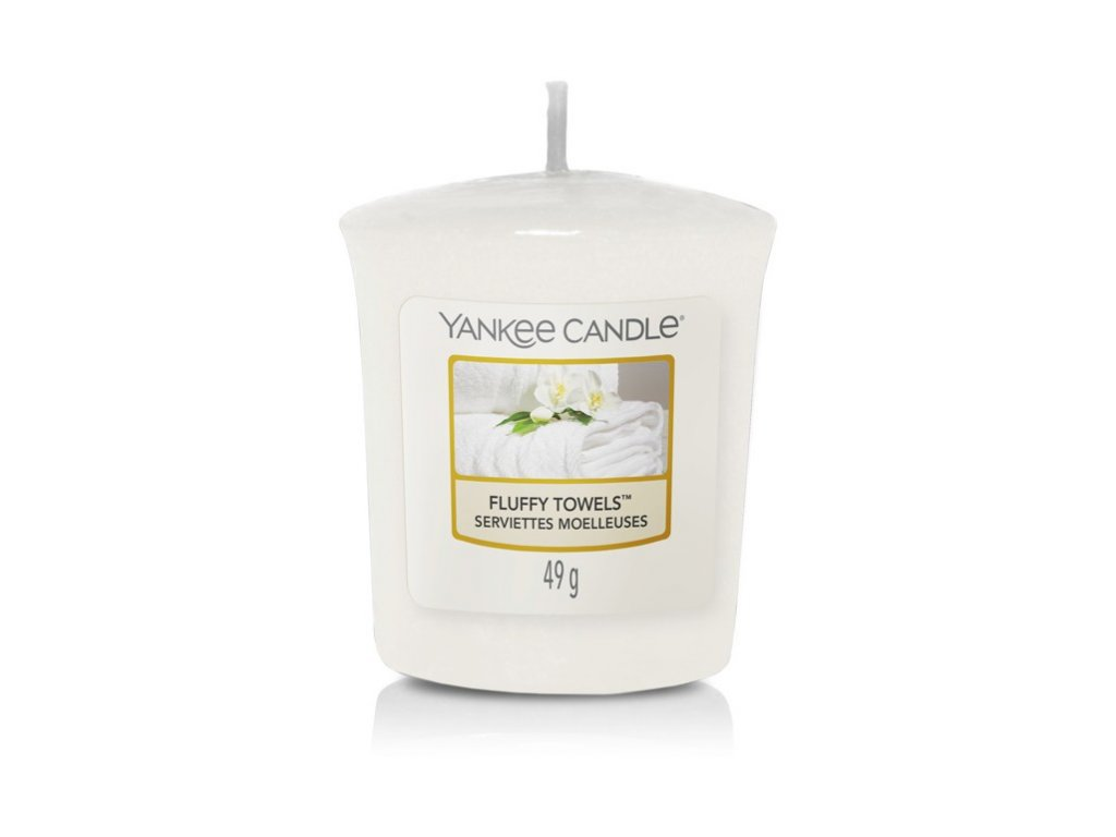 Yankee Candle Vonná Svíčka Votivní Fluffy Towels, 49 g