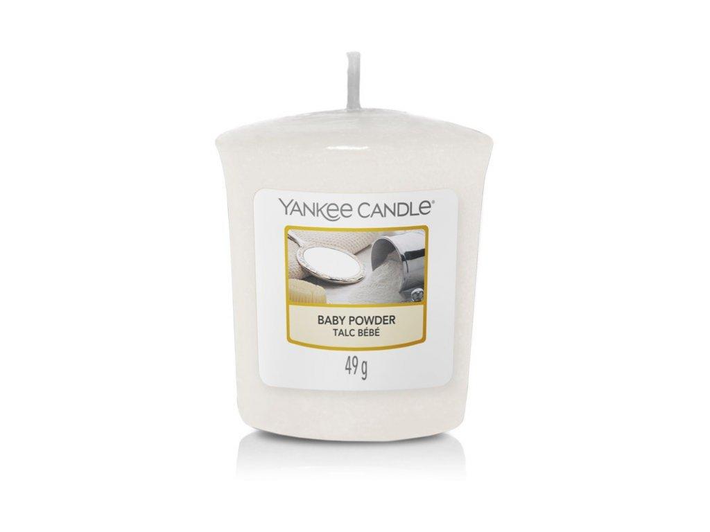 Yankee Candle Vonná Svíčka Votivní Baby Powder, 49 g