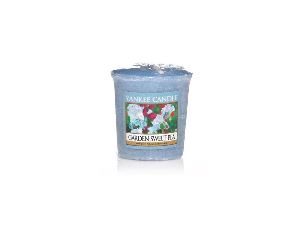 Yankee Candle Vonná Svíčka Votivní Garden Sweet Pea, 49 g