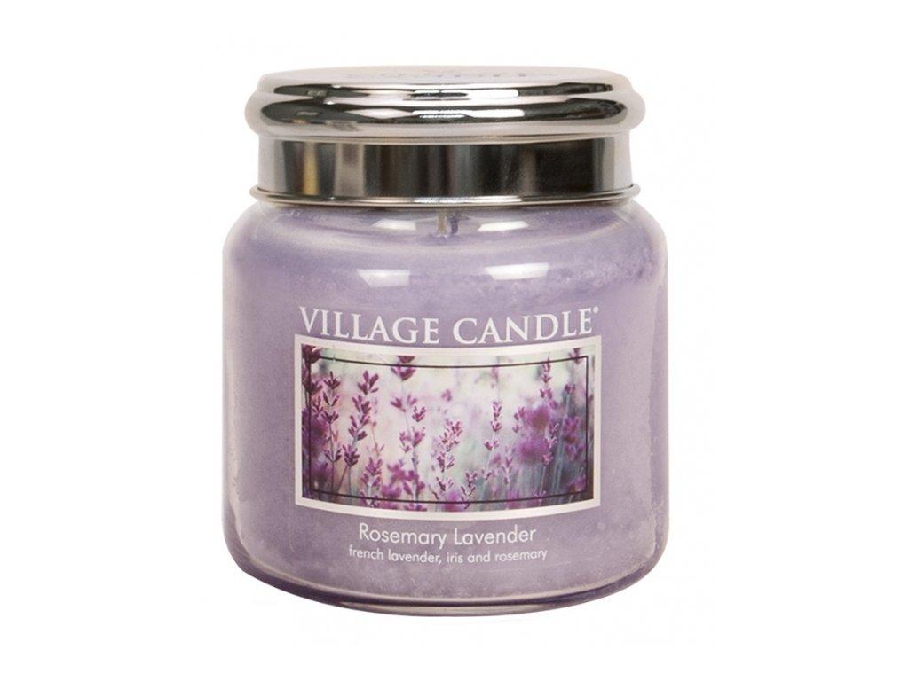 Village Candle Vonná svíčka Rozmarýn a Levandule - Rosemary Lavender, 390 g