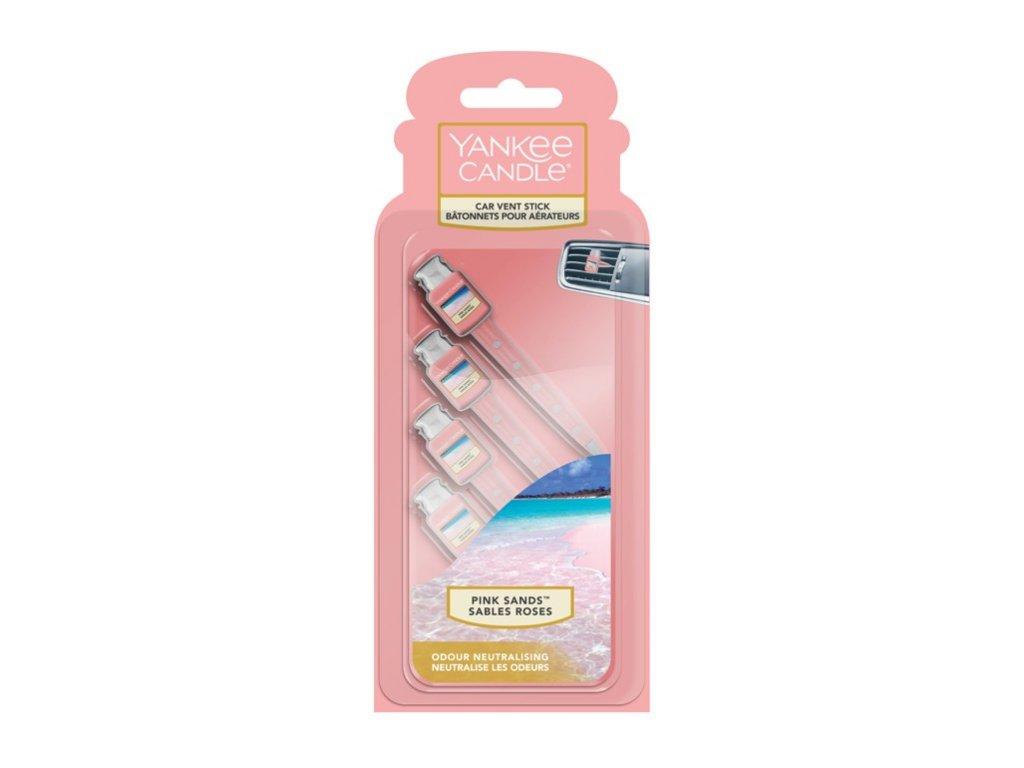 Yankee Candle Pink Sands Vonné kolíčky do auta, 4 ks