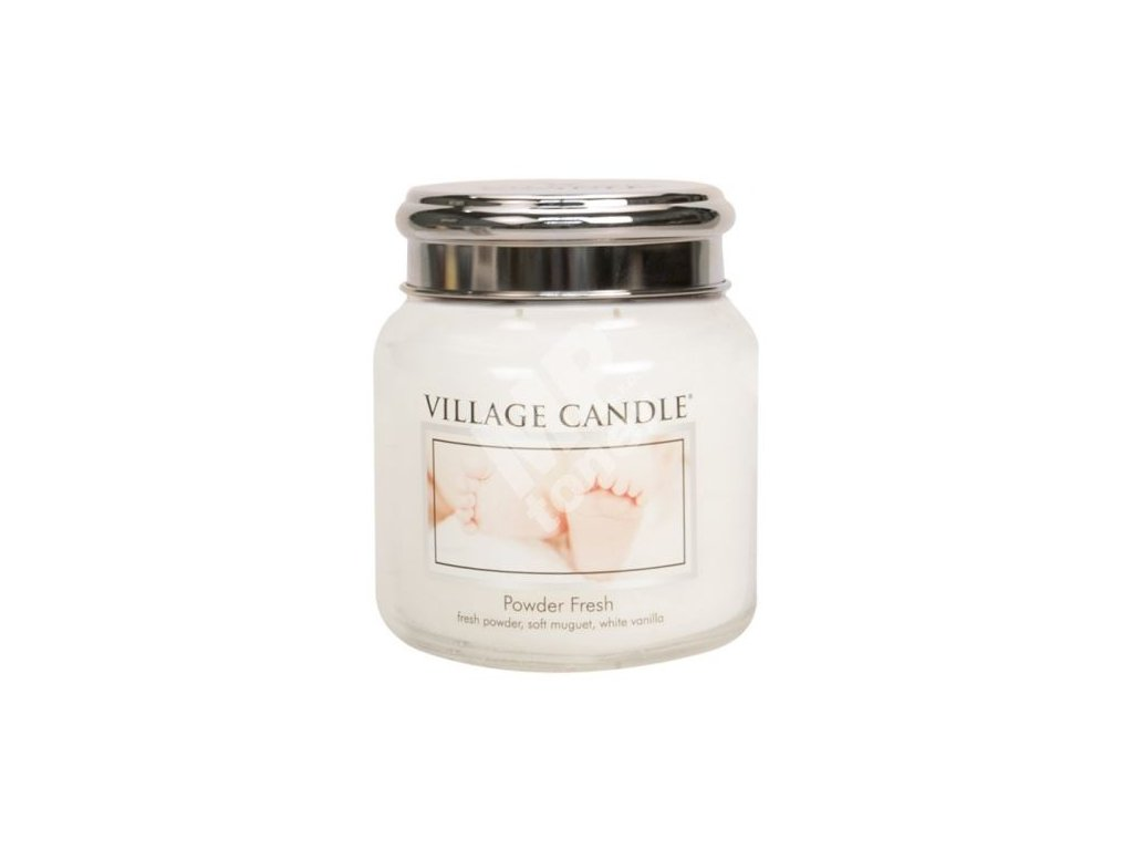 Village Candle vonná svíčka Pudrová Svěžest - Powder Fresh, 390 g