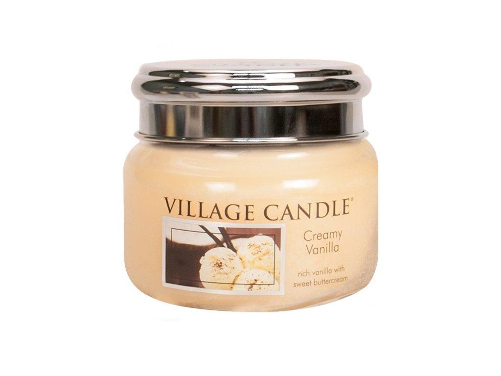 Village Candle Vonná svíčka Vanilková Zmrzlina - Creamy Vanilla, 262 g