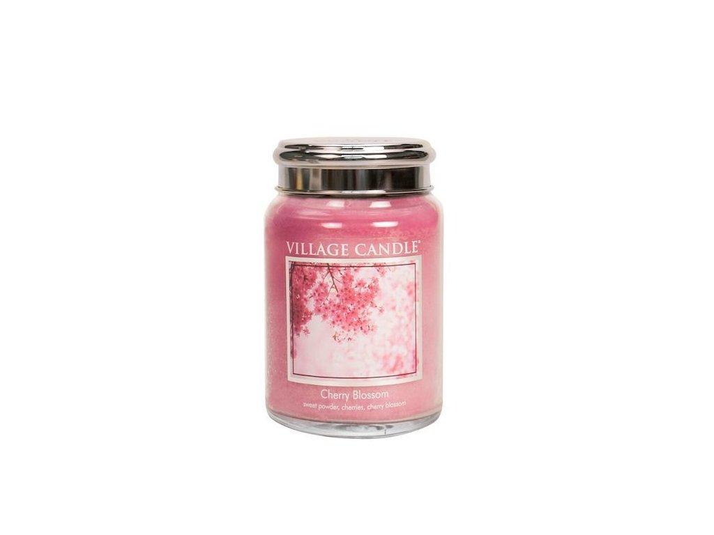 Village Candle Vonná svíčka Třešňový Květ - Cherry Blossom, 602 g
