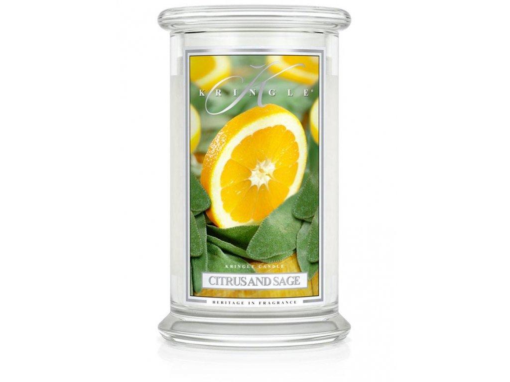 Kringle Candle svíčka Citrus and Sage, 623 g