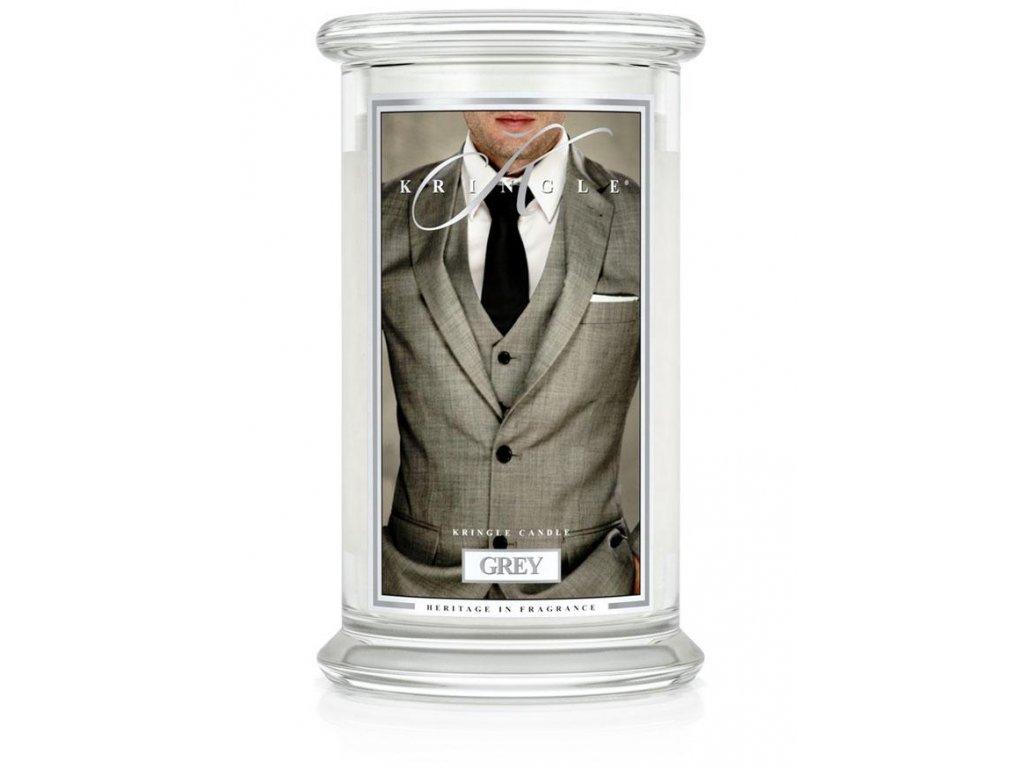 Kringle Candle svíčka Grey, 623 g