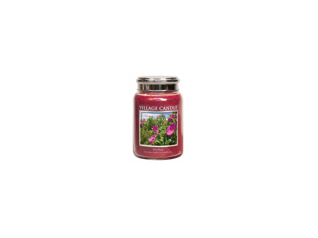 Village Candle Vonná svíčka Divoká Růže - Wild Rose, 602 g