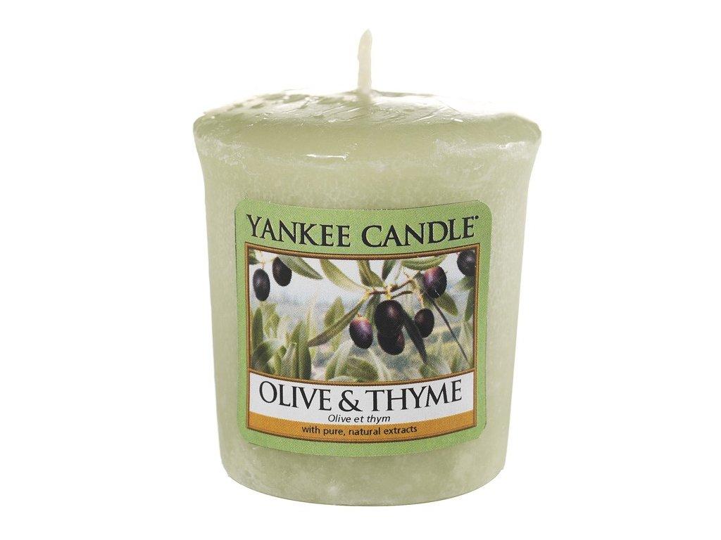 Yankee Candle Vonná Svíčka Votivní Olive&Thyme, 49 g