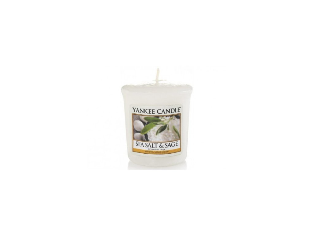 Yankee Candle Vonná Svíčka Votivní Sea Salt & Sage, 49 g