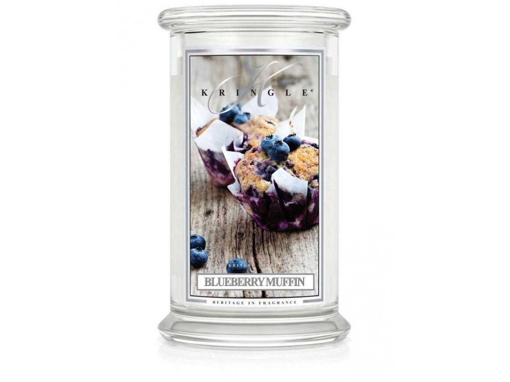 Kringle Candle svíčka Blueberry Muffin, 623 g