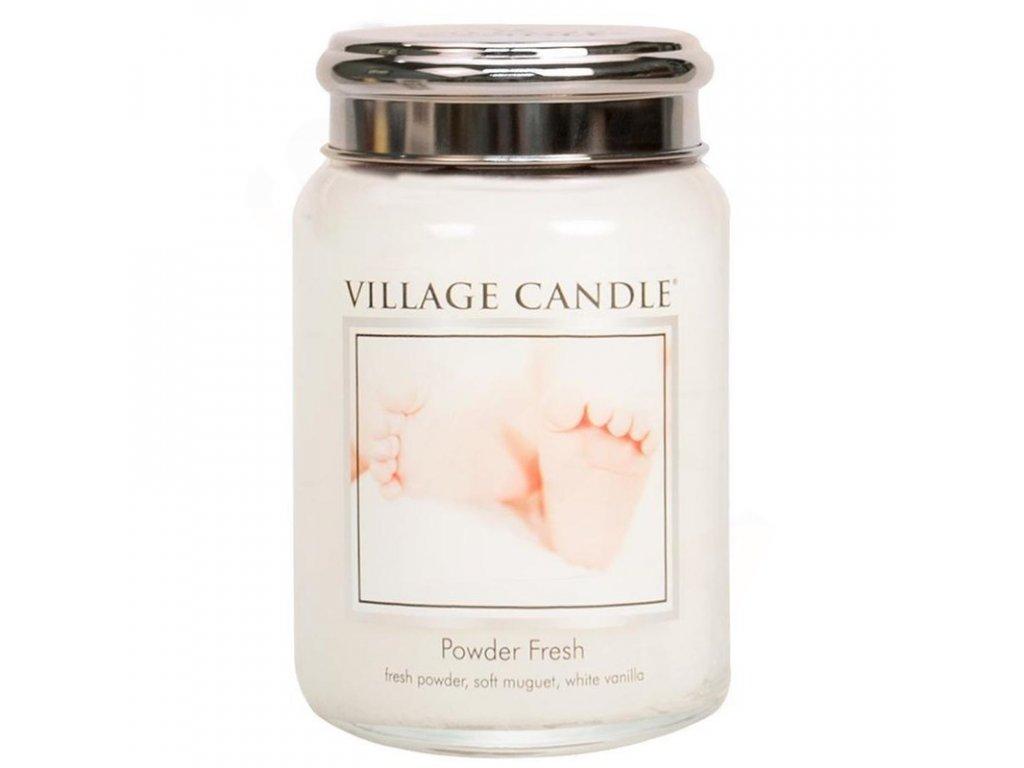 Village Candle Vonná svíčka Pudrová Svěžest - Powder Fresh, 602 g