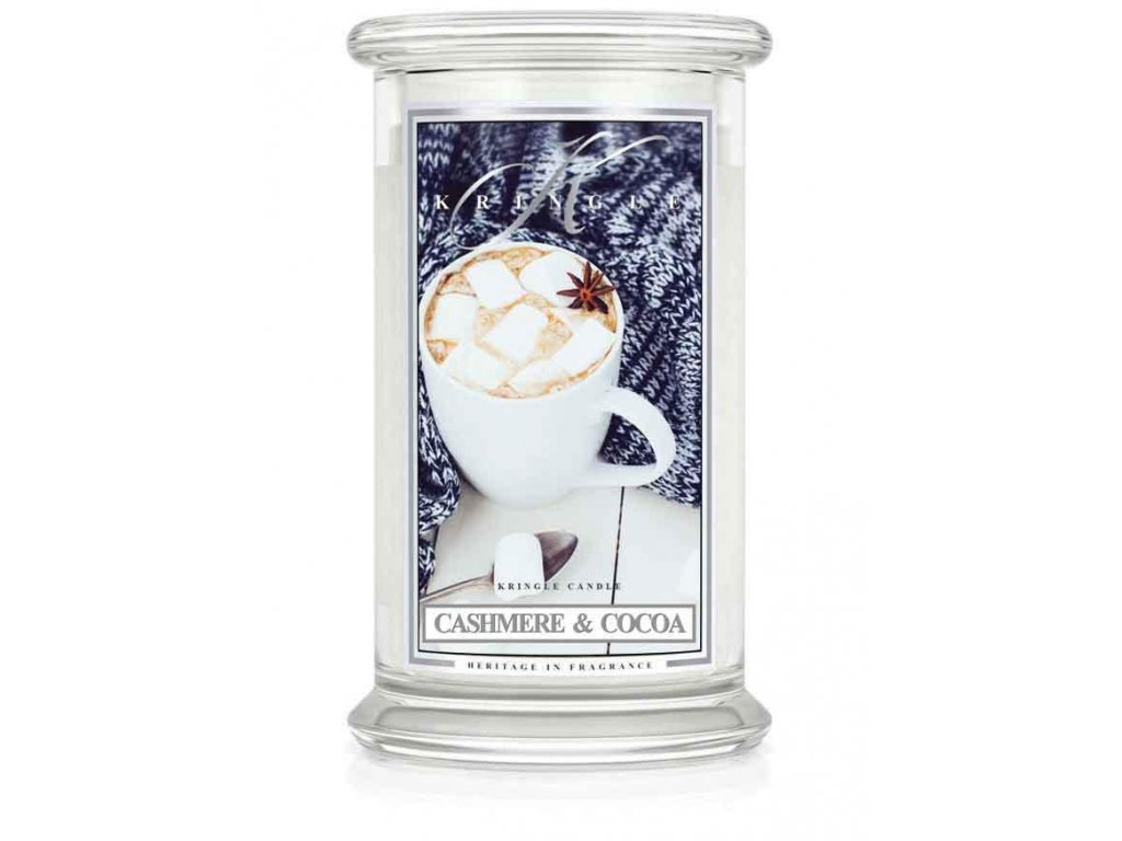 Kringle Candle svíčka Cashmere & Cocoa, 623 g