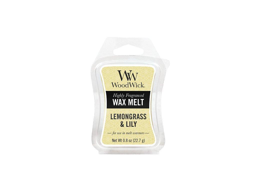 WoodWick Vonný vosk do aromalampy Lemongrass &Lily, 22.7g