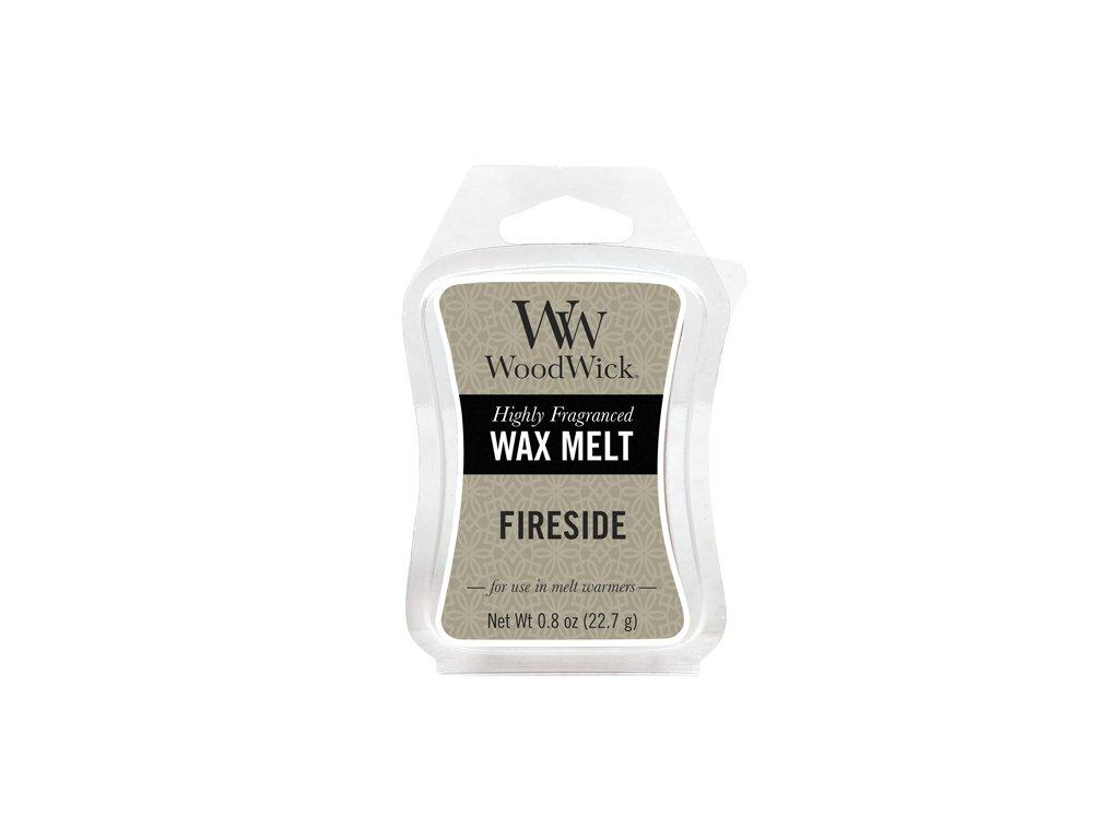 WoodWick Vonný vosk do aromalampy Fireside - Oheň v krbu, 22.7 g